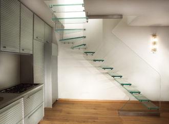 Escaleras de cristal para el interior de tu hogar